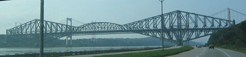 Quebec Bridge is of the general structure demonstrated above