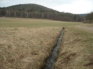 Querbach (Westerbach) River in Germany