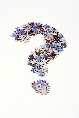 Question mark made of puzzle pieces FAQs (4273168957)