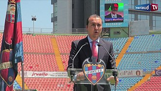 Levante UD - Quico Catalán, the president of the club since 2010.