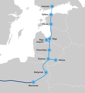 Rail Baltica Railway network across the Baltic nations