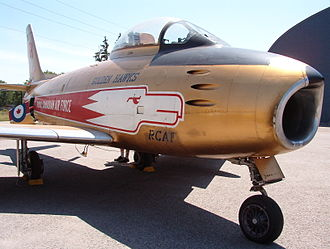Golden Hawks - Golden Hawk Sabre displayed at the Canadian Warplane Heritage Museum, Hamilton, Ontario.