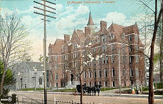 The Royal Conservatory of Music - McMaster Hall and Castle Memorial Hall (at left) c. 1906