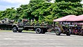 ROCA International 3.5ton 4WD Truck Towing M114 155mm Howitzer into Ground 20150704a.jpg
