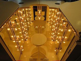 John Harvey Kellogg - Radiant heat bath by John H. Kellogg at the USPTO museum, patent no. 558,394; patented April 14, 1896
