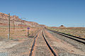 Railway tracks near a level crossing with SR-313, Utah 20110815 2.jpg