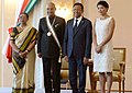 Ram Nath Kovind conferred Grand Cross of the Second Class by the President of Madagascar, Mr. Hery Rajaonarimampianina. This is the highest honour Madagascar bestows on a non-citizen, at Presidential Palace, in Madagascar.jpg