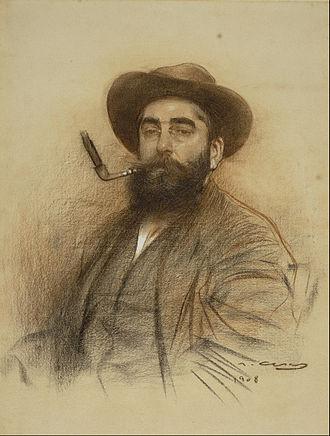 Ramon Casas - Ramon Casas's self-portrait