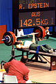 Ramon Epstein lifting at the 1992 Paralympic Games.jpg