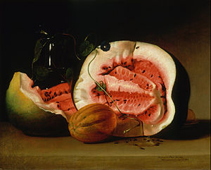 Raphaelle Peale - Image: Raphaelle Peale Melons and Morning Glories Google Art Project