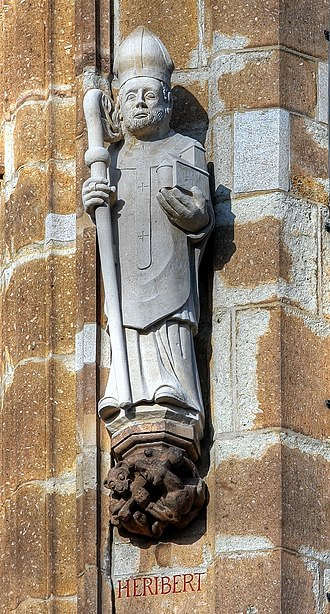 Heribert of Cologne - Statue at the Cologne town hall tower.