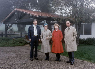 Rancho del Cielo - Image: Reagans with British royals at Rancho del Cielo cropped