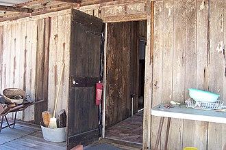 Slab hut - Rear of slab hut, Wollombi