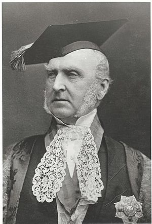 University of Ballarat - Sir Redmond Barry, the first president of the School of Mines, a colonial judge in Victoria, and the inaugural Chancellor of the University of Melbourne