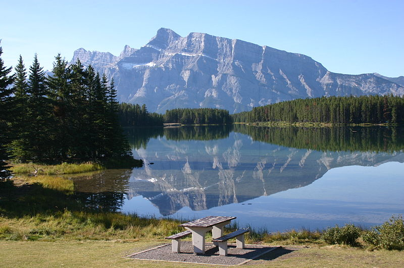 File:Reflection at Two Jack Lake.jpg