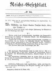 Reichsgesetzblatt34 1878