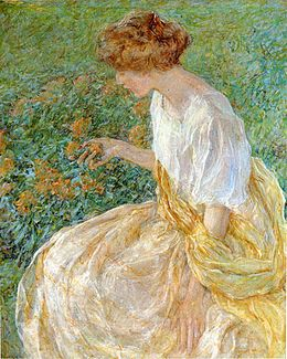 Reid Robert Lewis The Yellow Flower aka The Artist-s Wife in the Garden.jpg