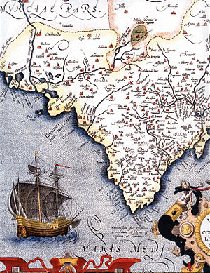 Names of the Valencian Community - Map of the Kingdom of Valencia in the sixteenth century