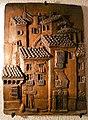 Relief-Keramikwandplatte aus gebranntem Ton mit südspanischer Häuserszene.jpg