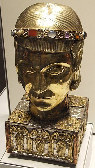 Saint Eustace - Medieval Reliquary of St. Eustace from the cathedral at Basle, Switzerland, now in the British Museum.