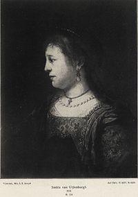 Rembrandt - Saskia in Profile 1635.jpg