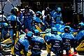 Renault team Fisichella 2005 British Grand Prix.jpg