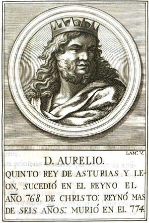 Aurelius of Asturias - 18th-century illustration representing Aurelius of Asturias