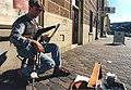 Richard Deegan, piper, Salamanca Place, Hobart, 1995.jpg