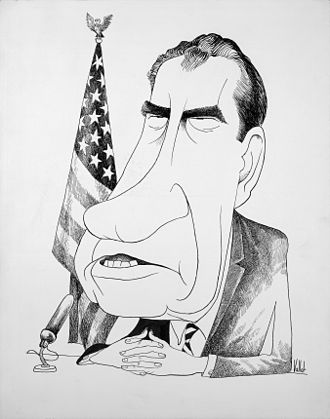 1970 in the United States - Image: Richard Nixon by Edmund S. Valtman ppmsc.07955