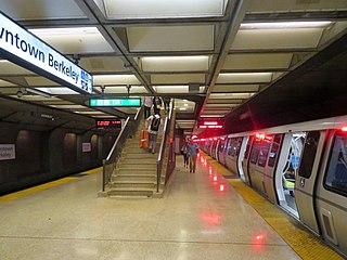 Downtown Berkeley station Rapid transit station in San Francisco Bay Area