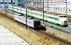 Rifu Line 701 EMU train runs.JPG
