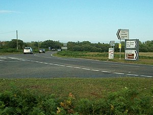 A4118 road - Road Junction where the A4118 meets the B4271