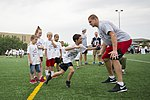 Rob Gronkowski football camp a 'touchdown' with youth at JBA 150702-F-CX842-139.jpg