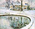 Robert Antoine Pinchon, Le bassin, neige, oil on canvas, 50 x 60 cm.jpg