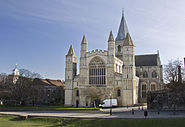 Rochester Cathedral from west
