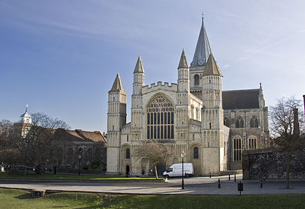 Rochester Cathedral from the West Rochester Cathedral from west.jpg