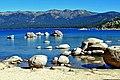 Rock Piles, Sand Harbor, Lake Tahoe, 9-10 (14859794697).jpg