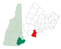 Location in Rockingham County, نیوهمپشایر