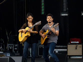 Rodrigo y Gabriela - Rodrigo y Gabriela performing at the Sasquatch! Music Festival in Washington State, on May 30, 2011