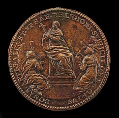 Religion Enthroned between Theology, Astronomy, Philosophy, and Literature [reverse]