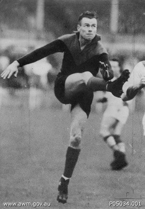 Ron Barassi - Barassi's father Ron Barassi, Sr. played for Melbourne in the VFL.