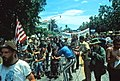 Ron Kovic and Vietnam Veteran protestors at the 1972 Republican National Convention being filmed by a camera man - Miami, Florida.jpg