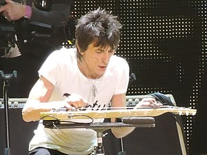 Ronnie Wood - Wood during the Rolling Stones 50 & Counting tour in December 2012
