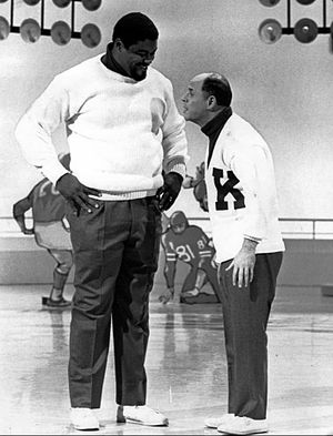 Rosey Grier - Grier and comedian Don Rickles in a Kraft Music Hall skit, 1968.