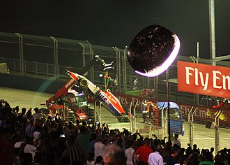 2015 Singapore Grand Prix - Alexander Rossi crashed towards the end of the first free practice session.