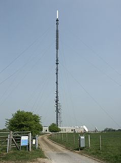 Telecommunications transmission site on the Isle of Wight, England