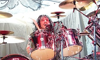 Roy Mayorga - Mayorga performing with Stone Sour in 2010