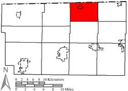 Location of Royalton Township in Fulton County