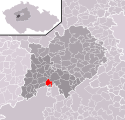 Location of Rpety in the Czech Republic