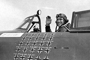 Robert S. Johnson - Robert S. Johnson in his P-47 Thunderbolt April 13, 1944